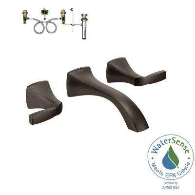 Voss 2-Handle Wall-Mount Bathroom Faucet with Valve in Oil Rubbed Bronze