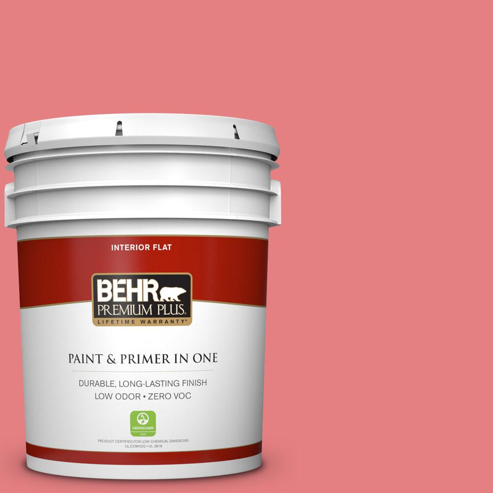 5-gal. #P170-4 Sugar Poppy Flat Interior Paint