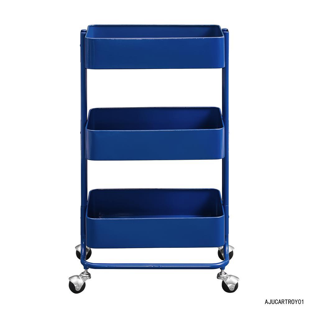 Royal Blue Bar Cart with Storage