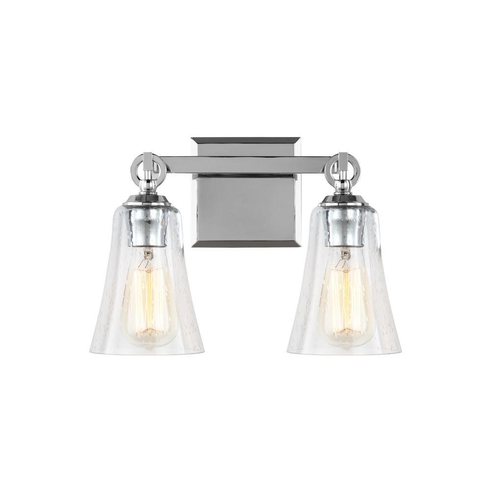 Feiss Monterro 13.5 In. W. 2 Light Chrome Bath Light