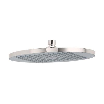 Modern 1-Spray 10 in. Single Ceiling Mount Fixed Rain Shower Head in Brushed Nickel