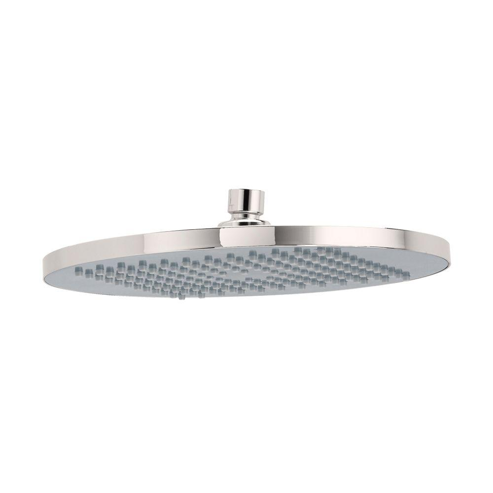 Modern Rain 1-Spray 10 in. Fixed Shower Head in Brushed Nickel