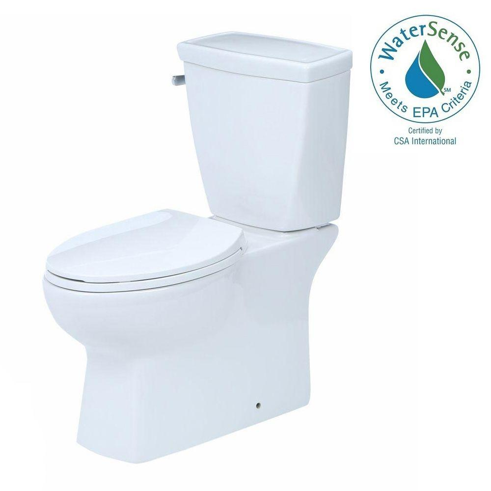 Delta Riosa 2-piece 1.28 GPF Elongated Toilet in White with Hardlines