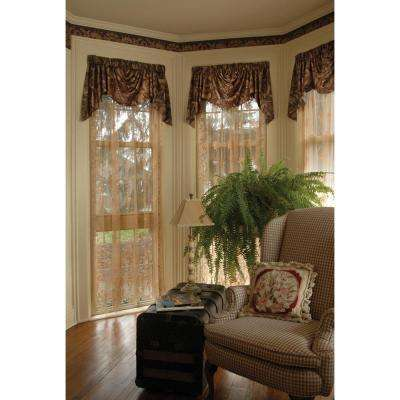 Semi-Opaque Windsor 60 in. L Polyester Valance in Antique