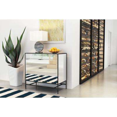 Upton Mirror and Metal Cabinet
