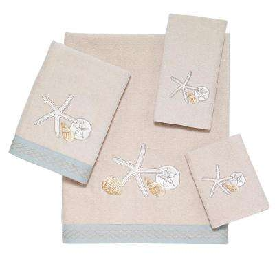 Seaglass 4-Piece Bath Towel Set in Beige