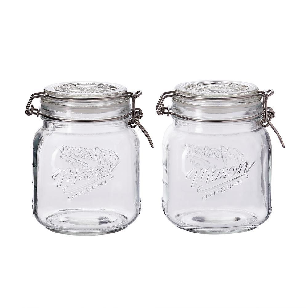 34 oz. Preservative Jar with Lid (Set of 2)