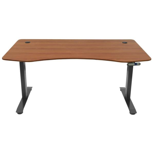 Motion Wise Manager Series Deep Mahogany Electric Height Adjustable Sit &