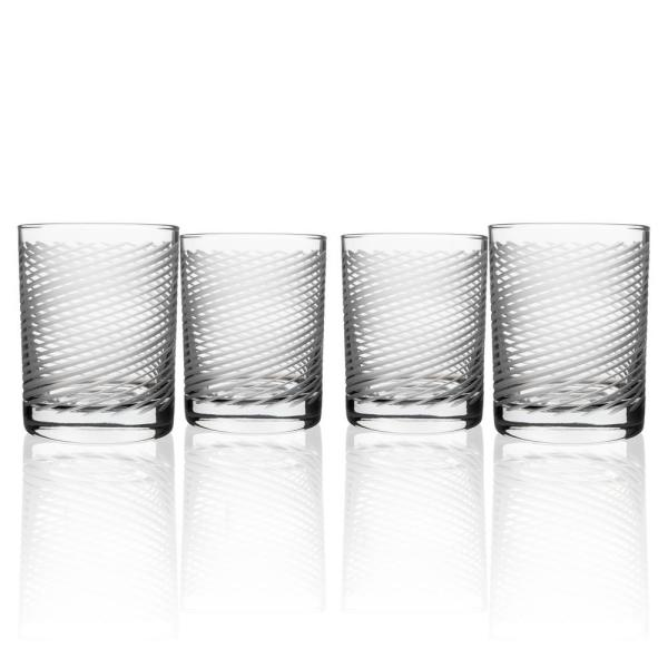 Cyclone 14 fl. oz. Double Old Fashioned Glasses Set (Set of 4)