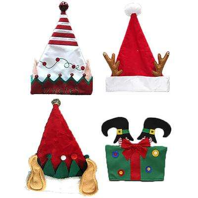 a7203a88d8823 Exclusive Home Accents Holiday Novelty 4-Styles Santa Hat Assortment