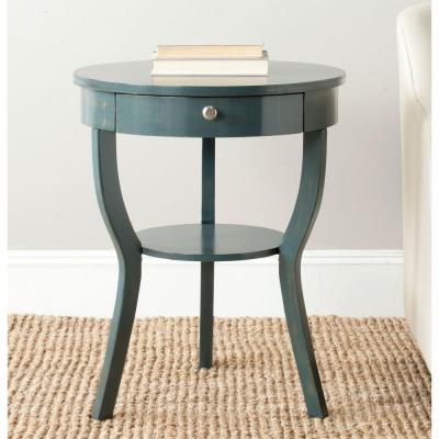 Kendra Steel Teal Storage End Table