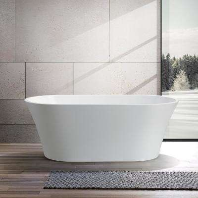 Antony 63 in. Acrylic Flatbottom Freestanding Bathtub in White
