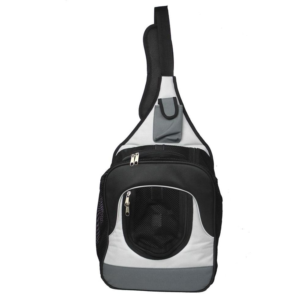 PET LIFE Single Strap Over-the-Shoulder Navigation Hands Free Back Pack and Front Pack Pet Carrier