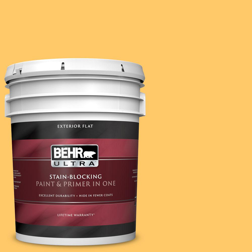 Reviews For Behr Ultra 5 Gal Home Decorators Collection Hdc Sp16 05 Daffodil Flat Exterior Paint Primer 485405 The Home Depot