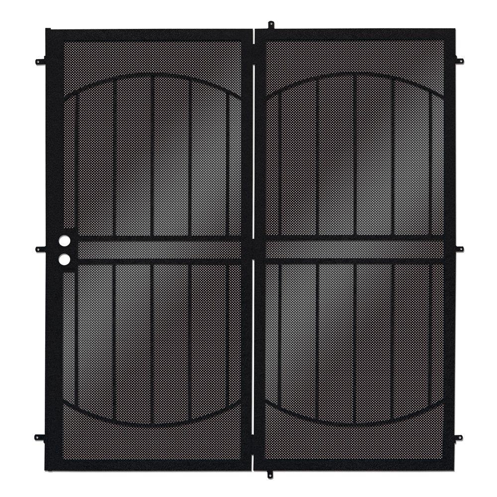 ArcadaMAX Black Projection Mount Outswing Steel Patio Security Door with Perforated Metal Screen-SPD0640072P002 - The Home Depot  sc 1 st  Home Depot & Unique Home Designs 72 in. x 80 in. ArcadaMAX Black Projection ...