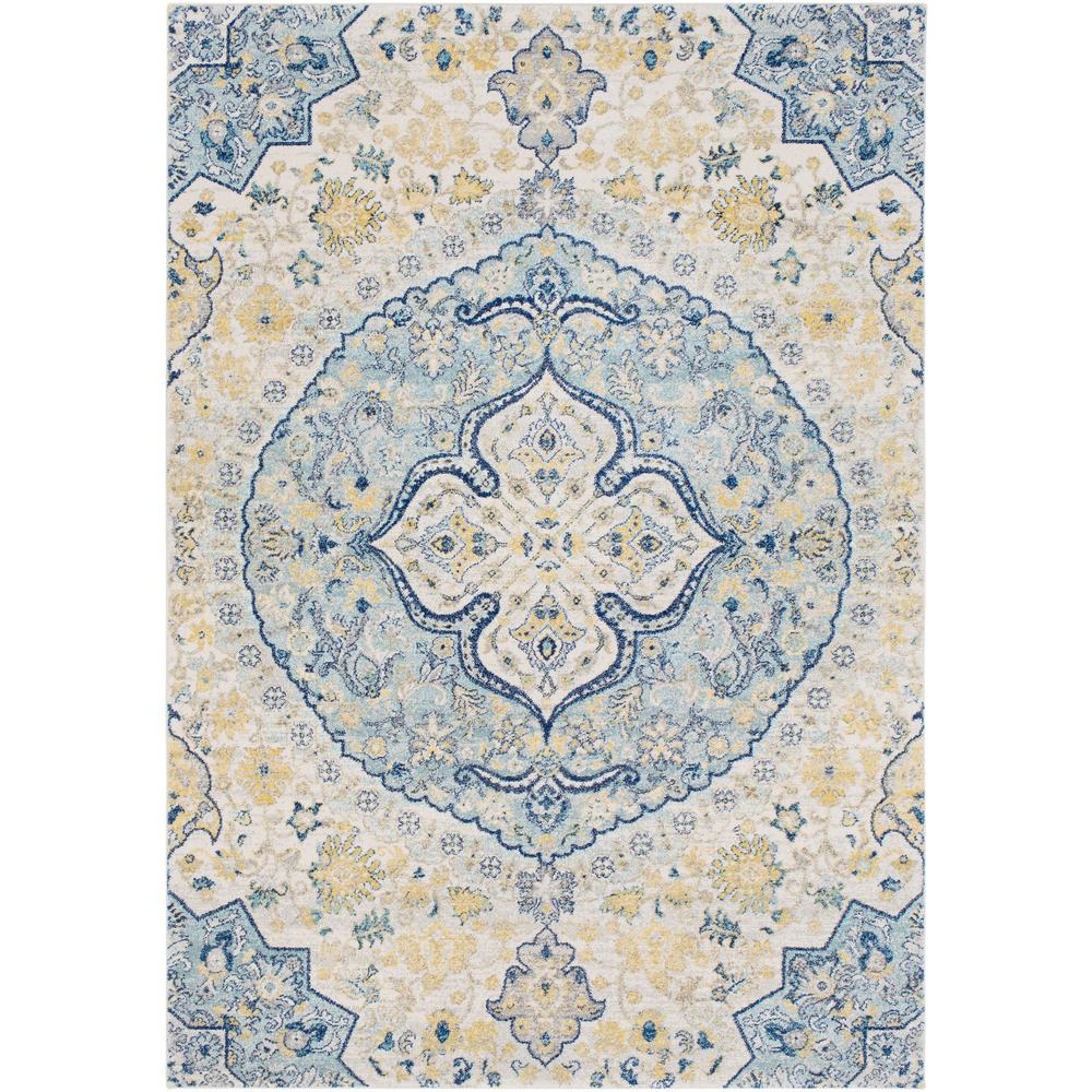 Agnetha Blue/Yellow 5 ft. x 7 ft. Area Rug
