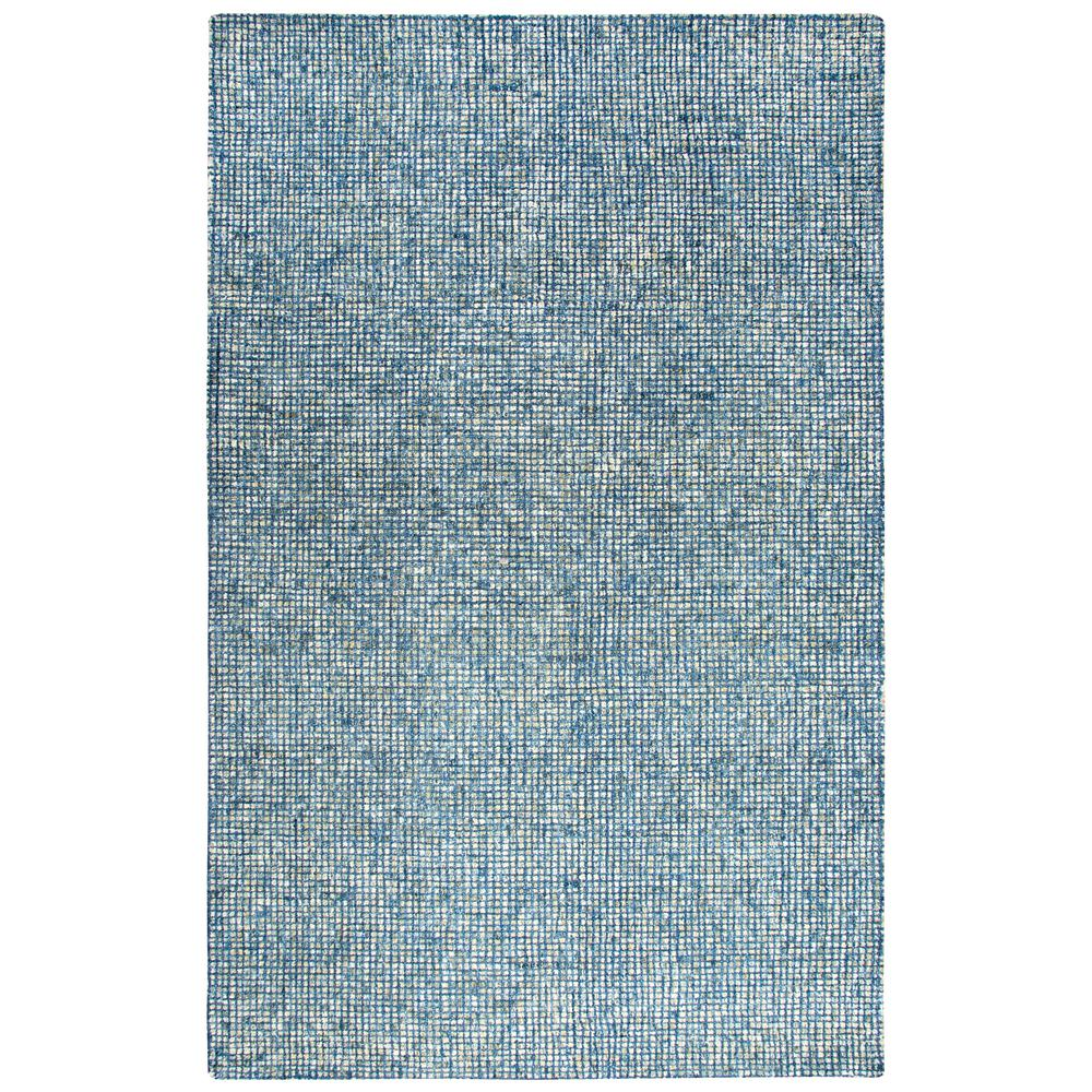 Storm Blue 5 ft. x 8 ft. Tweed Area Rug