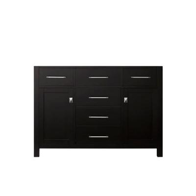Caroline 48 in. W Bath Vanity Cabinet Only in Espresso