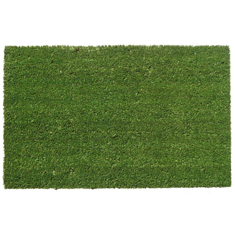 Entryways Simply Green 17 in. x 28 in. Non Slip Coir Door Mat