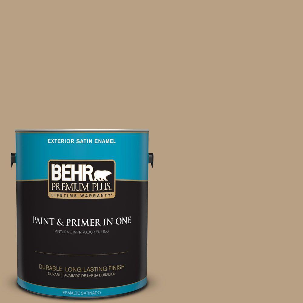 BEHR Premium Plus Home Decorators Collection 1-gal. #HDC-AC-12 Craft Brown Satin Enamel Exterior Paint