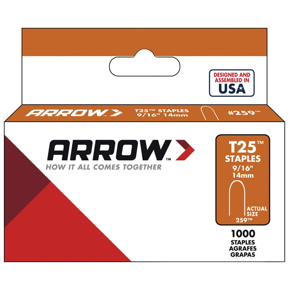 Arrow Fastener 9/16 in. Galvanized Steel Staples (1,000-Pack)