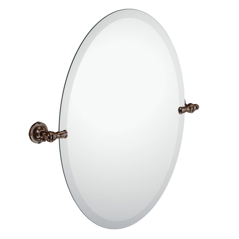 Frameless Pivoting Wall Mirror In Oil Rubbed Bronze Dn0892orb The Home Depot
