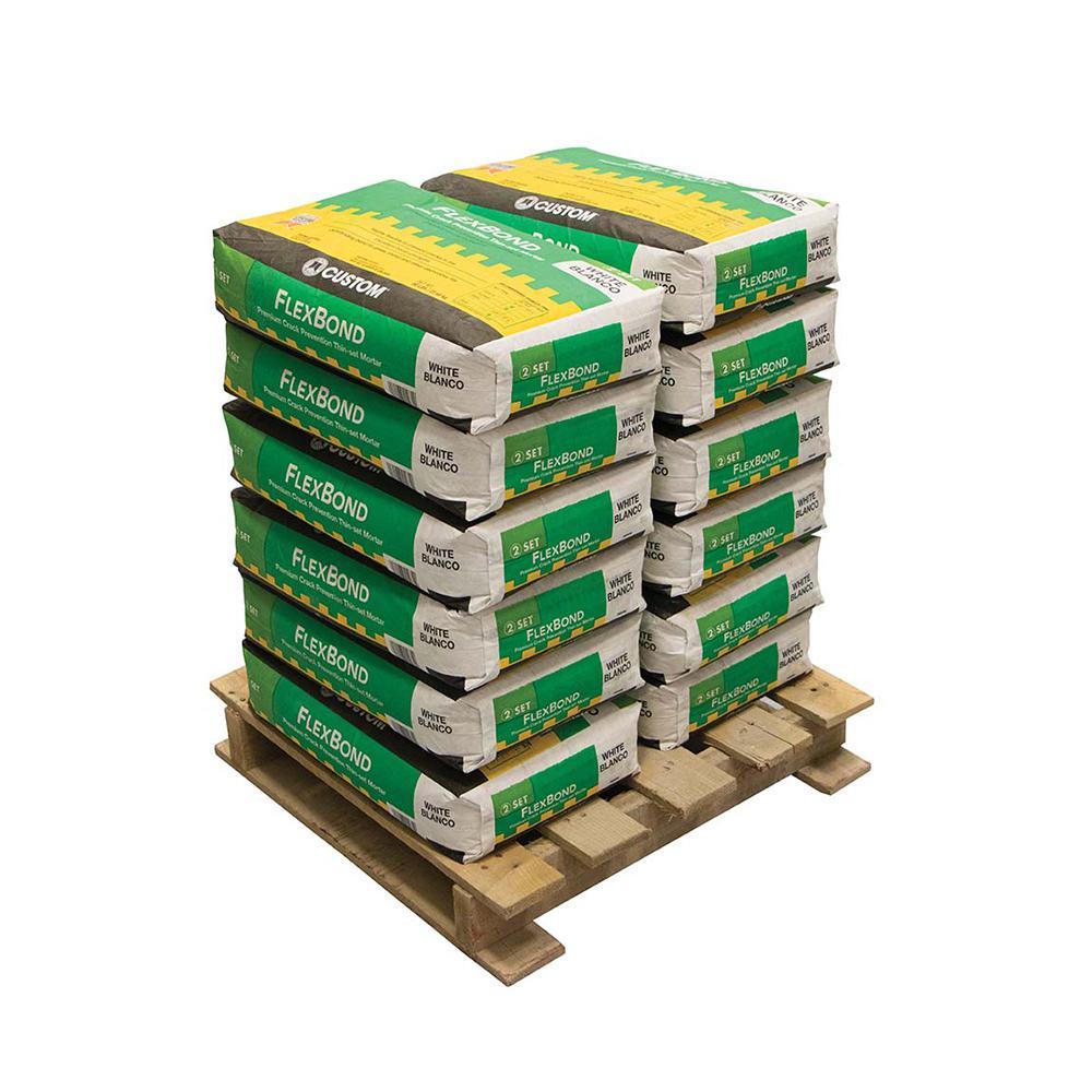 FlexBond 50 lb. White Crack Prevention Mortar (12 Bags / Pallet)