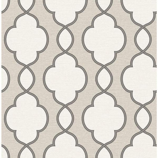 A-Street Structure Silver Chain Link Wallpaper Sample 2625-21821SAM