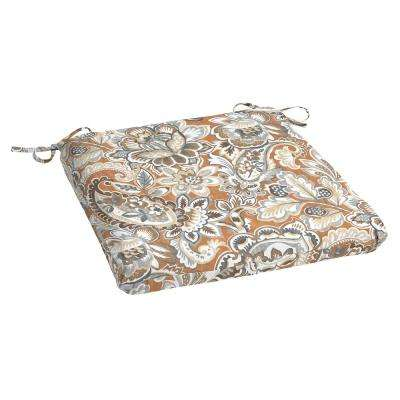 Cashew Floral Rectangle Outdoor Seat Cushion