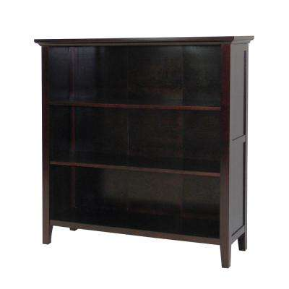 Ferndale Espresso 3-Shelf Bookcase