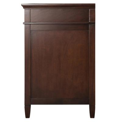 Ashburn 61 in. W x 22 in. D Vanity Cabinet in Mahogany with Engineered Marble Vanity Top in Snowstorm with White Basin