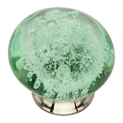1-1/2 in. Turquoise Bubbled Glass Cabinet Knob