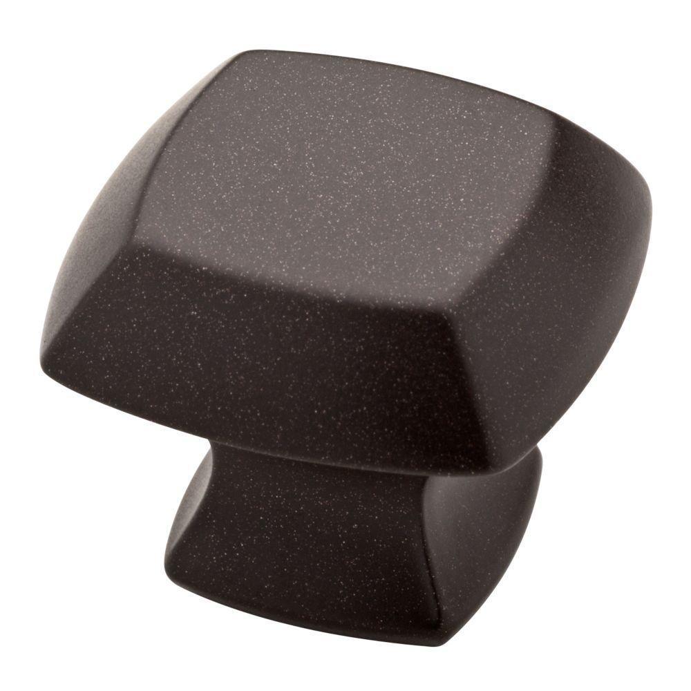 Mandara 1-1/4 in. (32mm) Cocoa Bronze Square Cabinet Knob (10-Pack)