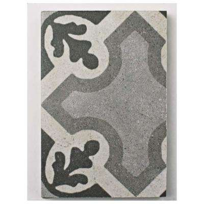 Vintage Ruzafa Encaustic Porcelain Floor and Wall Tile - 3 in. x 4 in. Tile Sample