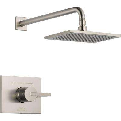 Vero 1-Handle 1-Spray Raincan Shower Faucet Trim Kit in Stainless (Valve Not Included)