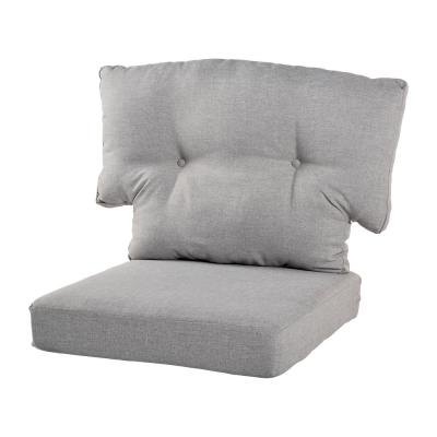Charlottetown 23.5 in. x 26.5 in. 2-Piece Outdoor Chair Cushion in True Gray