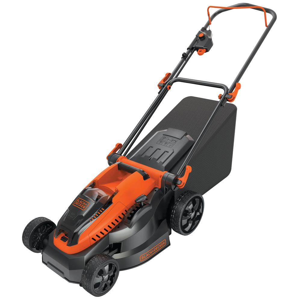 BLACK+DECKER 16 in. 40-Volt MAX Lithium-Ion Cordless Battery Walk Behind Push Mower - Two 2.0 Ah Batteries/Charger Included