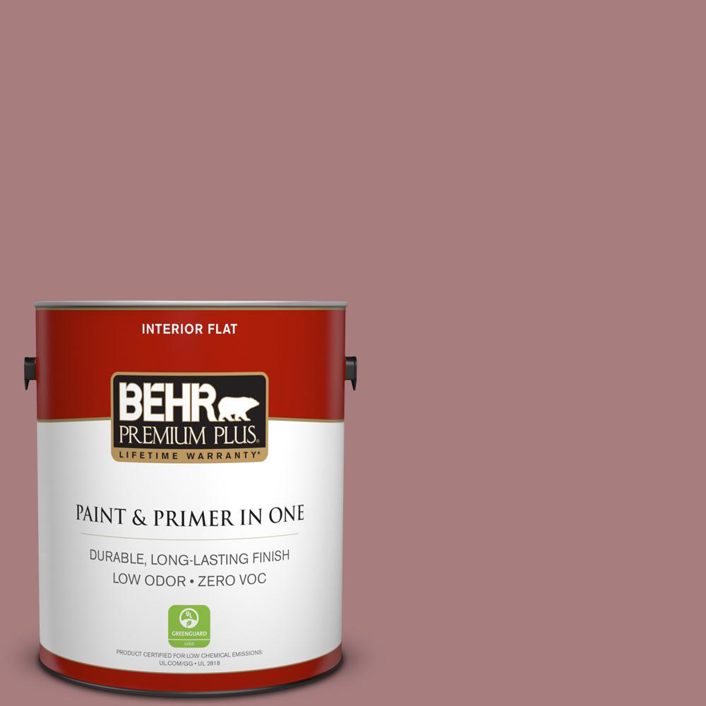 BEHR Premium Plus 1-gal. #140F-4 Bedford Brown Zero VOC Flat Interior Paint