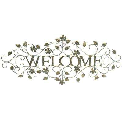 Metal Welcome Black Wall Decor