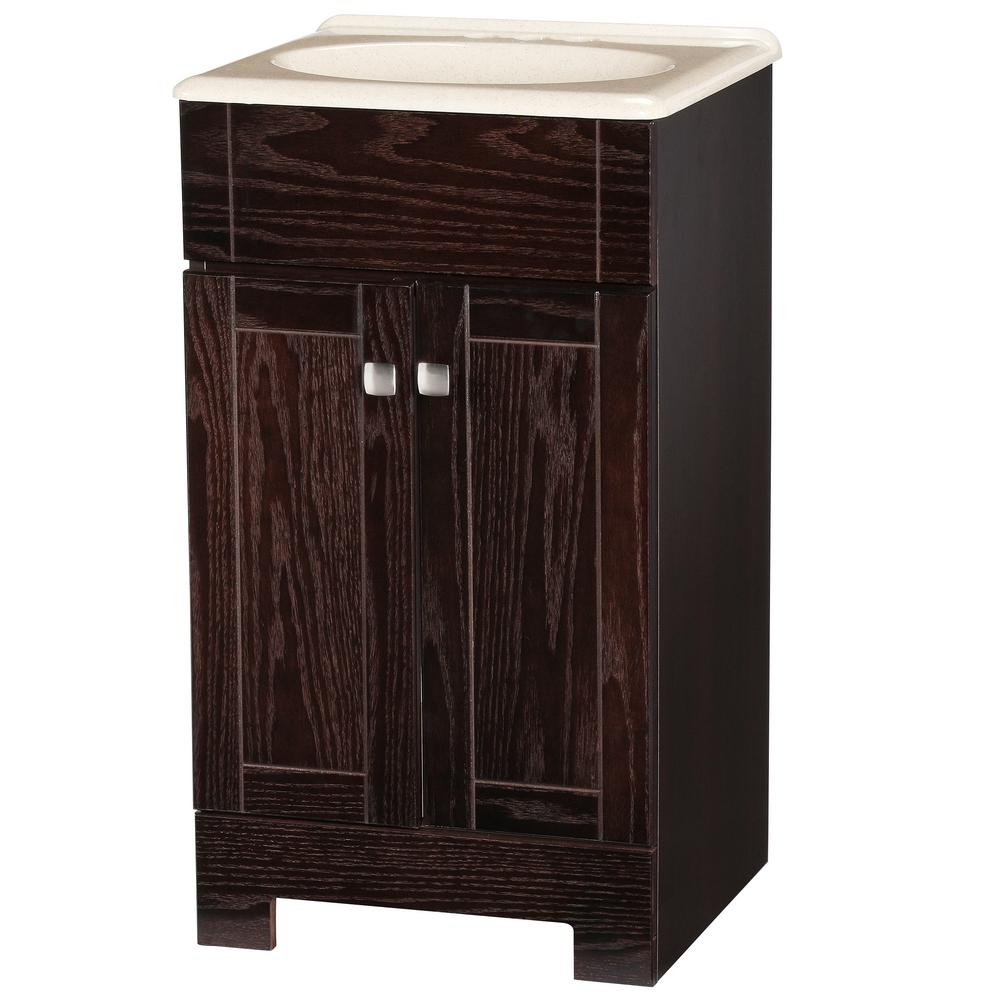 Glacier Bay Renditions 19 In W Bath Vanity In Java Oak