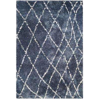 Bromley Whistler Blue-Snow 4 ft. x 6 ft. Area Rug
