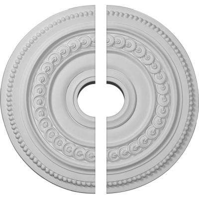 18 in. O.D. x 3-1/2 in. I.D. x 1-1/4 in. P Oldham Ceiling Medallion (2-Piece)