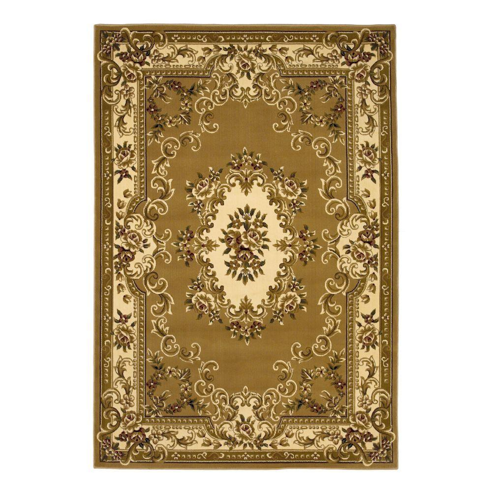 Kas Rugs Aubusson Beige/Ivory 7 ft. 7 in. x 10 ft. 10 in. Area Rug
