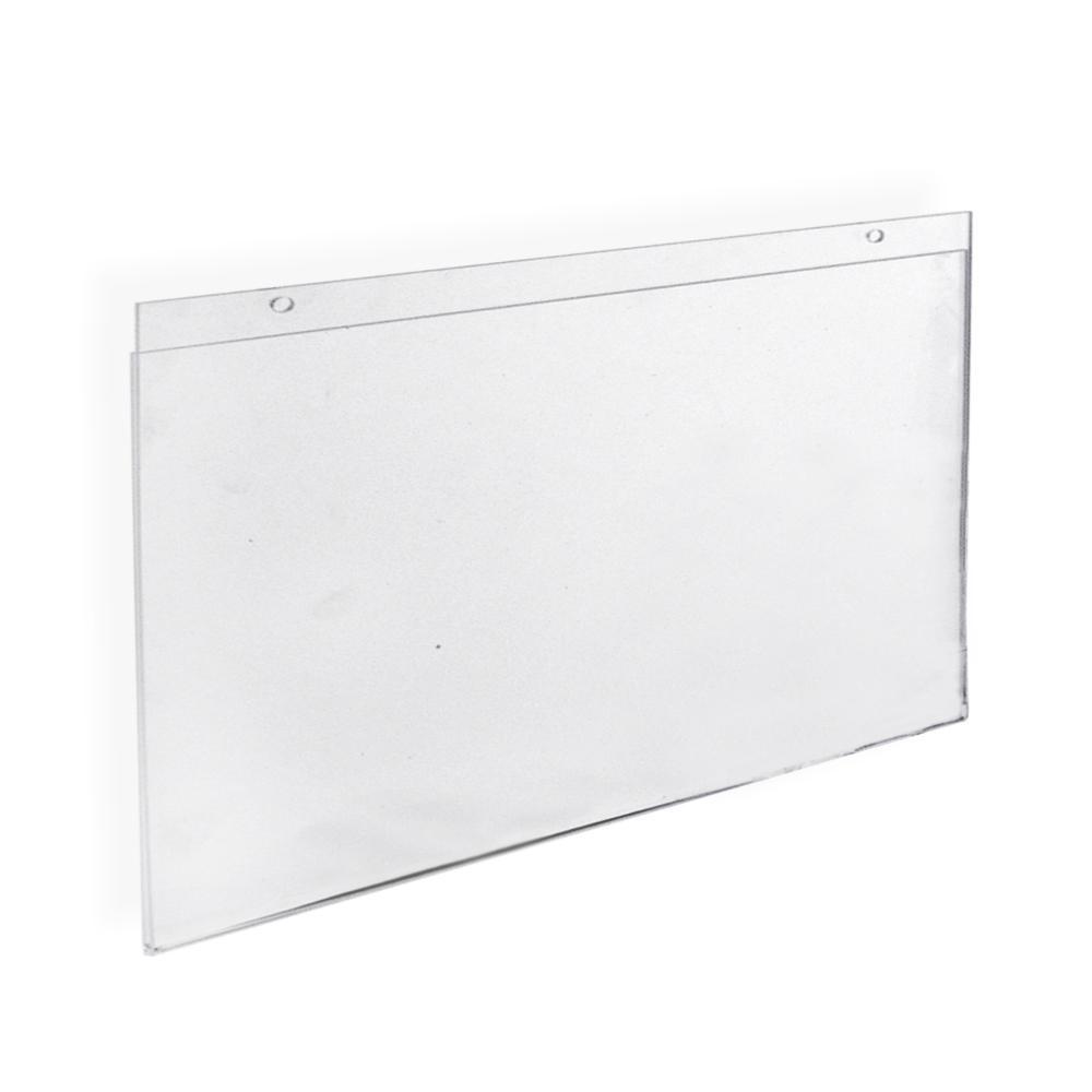 Azar Displays 17 In X 11 In Polished Clear Wall U Frame 10 Pack