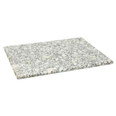 12 in. x 16 in. Granite Cutting Board in White