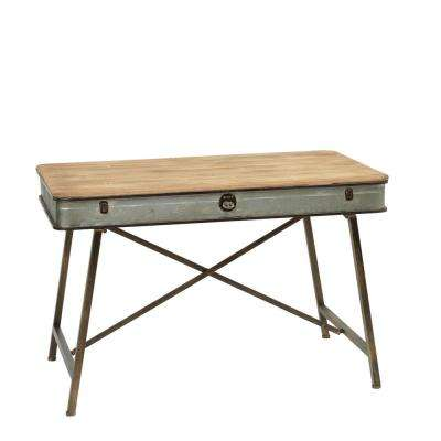 43 in. Antique Plant Stand with Latch Accent