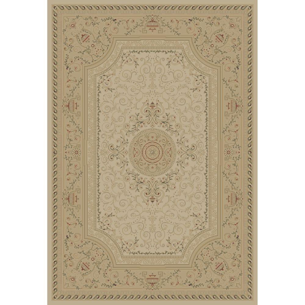 Concord Global Trading Imperial Savonnerie Ivory 5 Ft 3