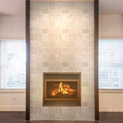 Light Travertine Beige/Cream 4 in. x 4 in. Tumbled Natural Stone Wall and Floor Tile (1 sq. ft. / Pack)