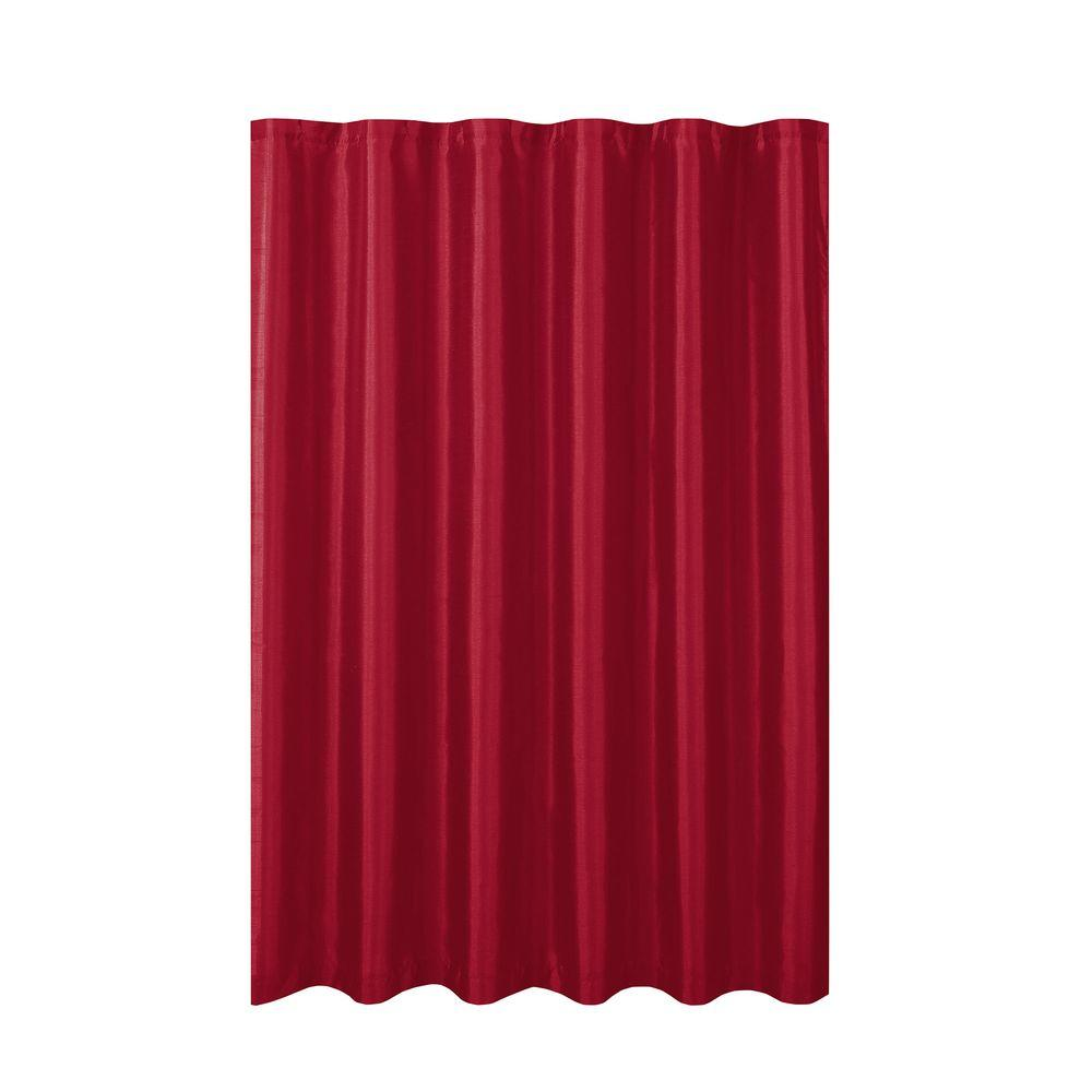 Creative Home Ideas Jane Faux Silk 70 In W X 72 In L Shower Curtain With Metal Roller Hooks In