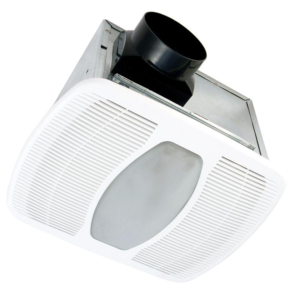 Air King Deluxe Quiet 100 CFM Ceiling Exhaust Fan with Fluorescent Light